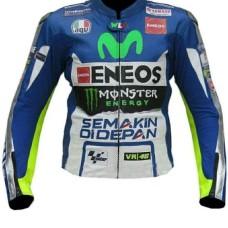 Valentino Rossi Yamaha Movistar Motogp Leather Motorbike Jacket