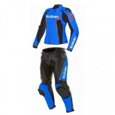 Women's Suzuki Motorbike Racing Leather Suit