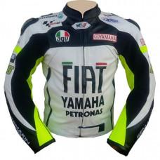 VR46 Yamaha Fiat Motorcycle Leather Jacket Motogp Jacket
