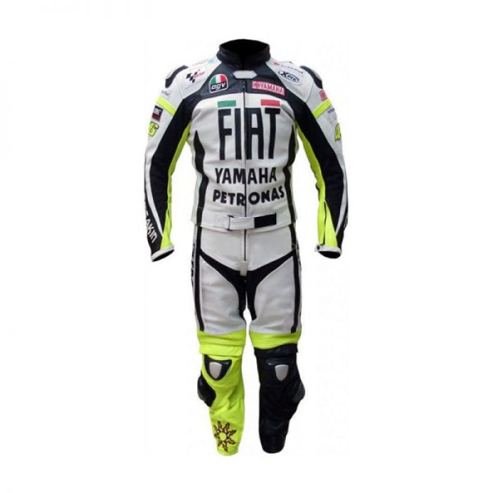 VR46 Yamaha FIAT Motorcycle Racing Leather MotoGP Suit