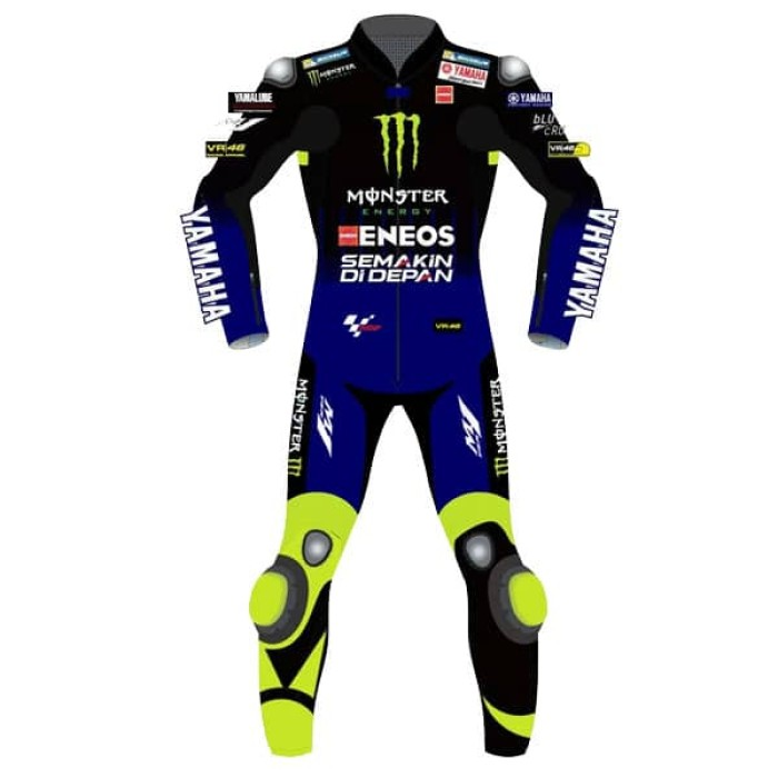 VR46 YAMAHA Monster Energy MotoGP Rossi Replica Biker Race Leathers