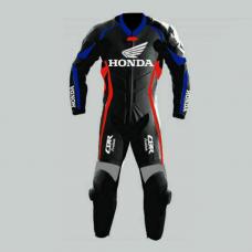 Honda CBR Motorbike MotoGp Black Leather Racing Suit