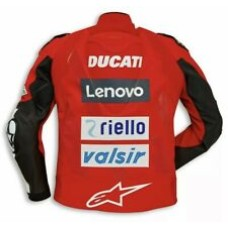 Ducati Lenovo Custom Made Best Quality Racing Leather Jacket For Mens