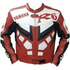 Yamaha R6 Custom Made Best Quality Racing Leather Jacket For Mens
