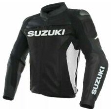 Suzuki Custom Made Best Quality Racing Leather Jacket For Mens
