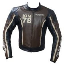 High Quality Custom Made Ducati Leather Jacket For Mens