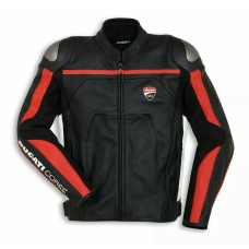 Ducati Custom Made Best Quality Racing Cowhide Leather Jacket For Mens