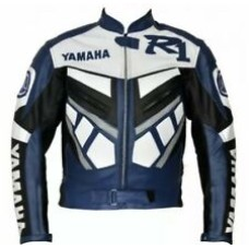 Yamaha R1 Custom Made Best Quality Racing Leather Jacket For Mens