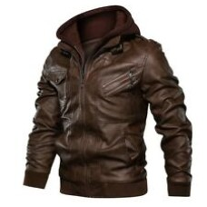 Custom Made Best Quality Fashion Hooded Leather Jacket For Mens In All Colors