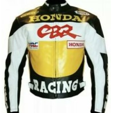 Honda CBR Custom Made Best Quality Racing Leather Jacket For Mens