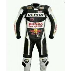 Honda Repsol Custom made Best Quality Leather Motorbike Racing Suit