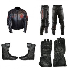 Honda Motorcycle Racing Black Biker Leather Suit set