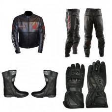 Honda Motorcycle Racing Black Biker Leather Suit set