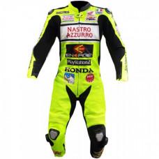 valentino Rossi Nastro Azzurro Honda Motogp Leather Suit