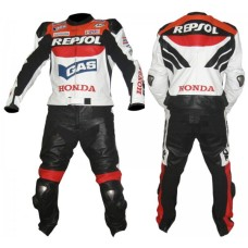 HONDA REPSOL GAS MOTORBIKE LEATHER SUIT
