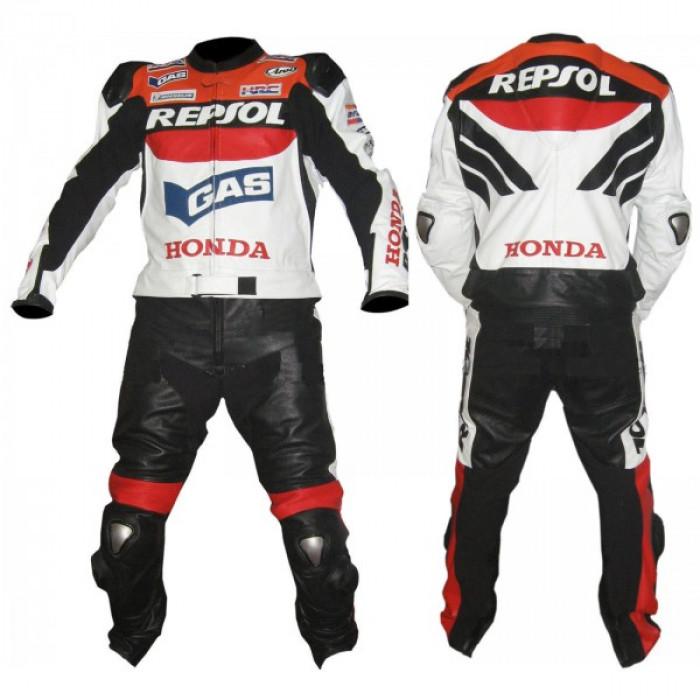 HONDA REPSOL GAS MOTORBIKE LEATHER SUIT