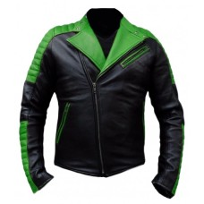 Black and Green Ninja Biker racing Leather Jacket