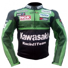 Kawasaki Green Racing Motorcycle Biker Racing Leather Jacket