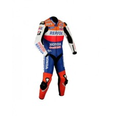 Honda Repsole One Heart Moterbiker Leather Suit S to 4Xl