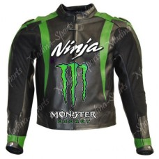 Kawasaki Ninja Monster Motorcycle Leather Jacket Men's
