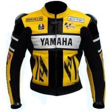Yamaha YZF-R1 46 Rossi Yellow Motorbike Leather Jacket Men