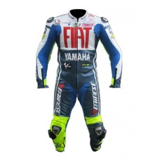 Fiat Yamaha Team racing Motorcycle Leather Suit