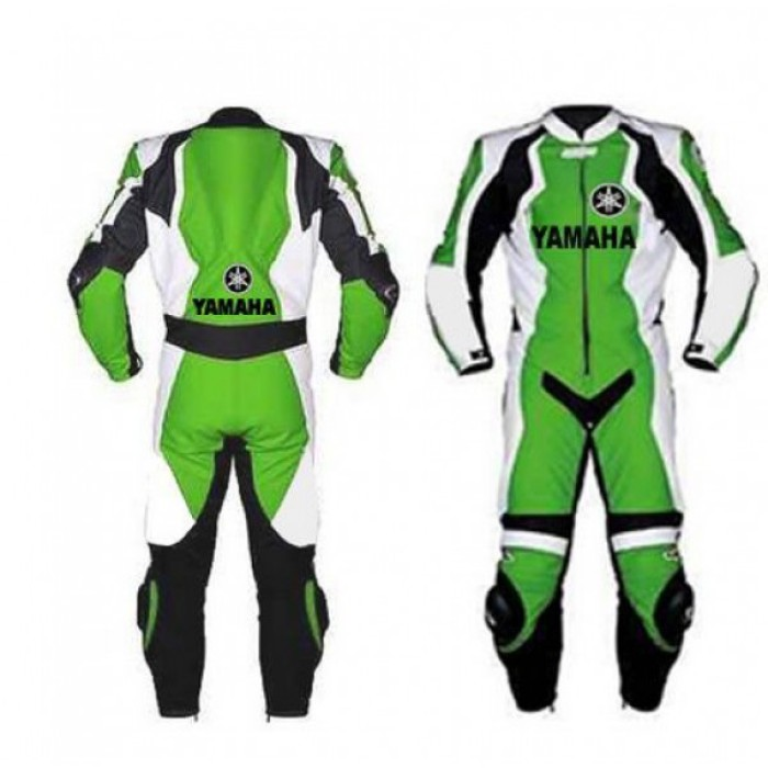 Green Yamaha Motorbike Racing Leather
