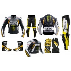 MEN'S BEN SPIES YAMAHA MONSTER MOTORBIKE LEATHER SUIT SET