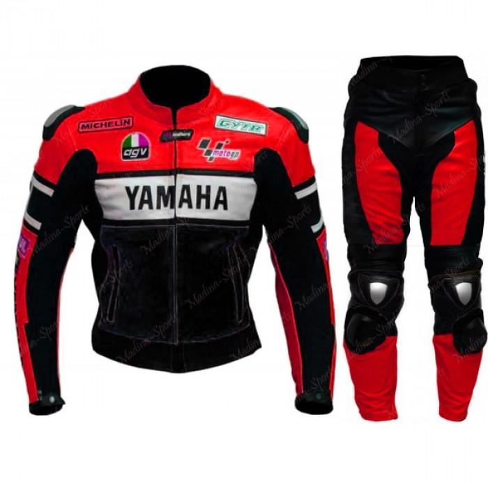Yamaha Black/Red 46 Valentino Rossi Motorbike Leather Suit