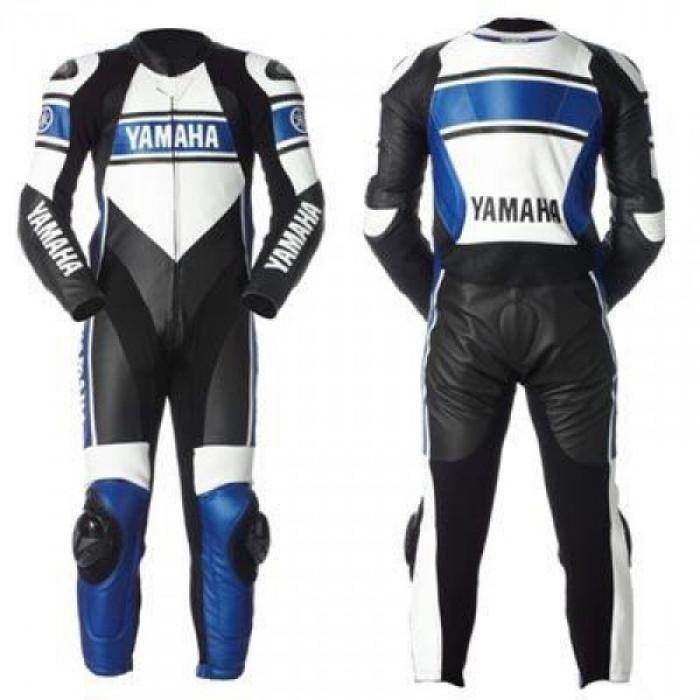 Yamaha Motorcycle Blue Biker Leather Racing Suit