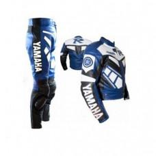 Yamaha R1 Blue & White Biker Leather Suit