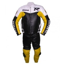 Yamaha R6 Black & Yellow Biker Leather Suit S To 6XL