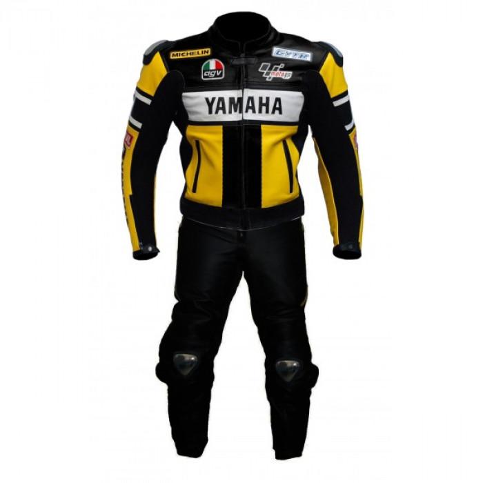 Yamaha YZF R1 Black yellow 46 Valentino Rossi Motorbike Leather Suit