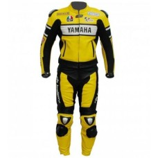 Yellow 46 Valentino Rossi Biker Replica Leather Suit