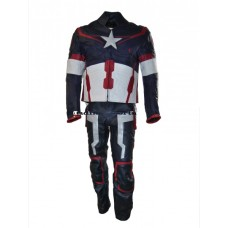 Chris Evans Captain America 2015 Leather Suit