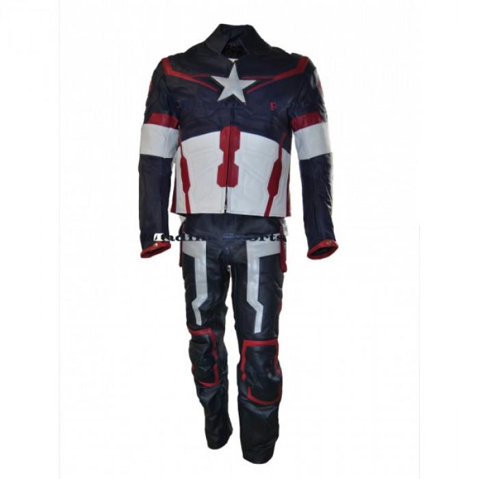 Chris Evans Captain America 2015 Leather Suit