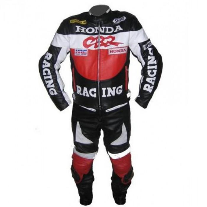 Honda CBR Black Biker Leather Suit S To 6XL