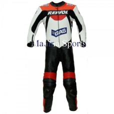 Honda Gas Repsol Team Racer Motorbike Leather Suit For Men's