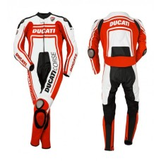 Ducati Corse one piece leather suit 14 Dainese racing Foe Men's