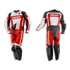 Ducati Corse Red Leather Suit