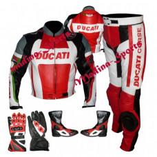 Ducati Corse Two Piece Leather Suit Set