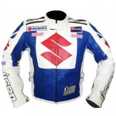 Suzuki Motorbike Icon Leather Jacket Men's