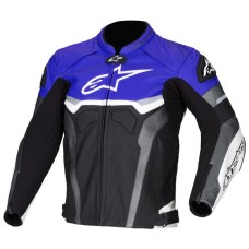 Alpinestars Blue Croes Celer Biker Leather Jacket