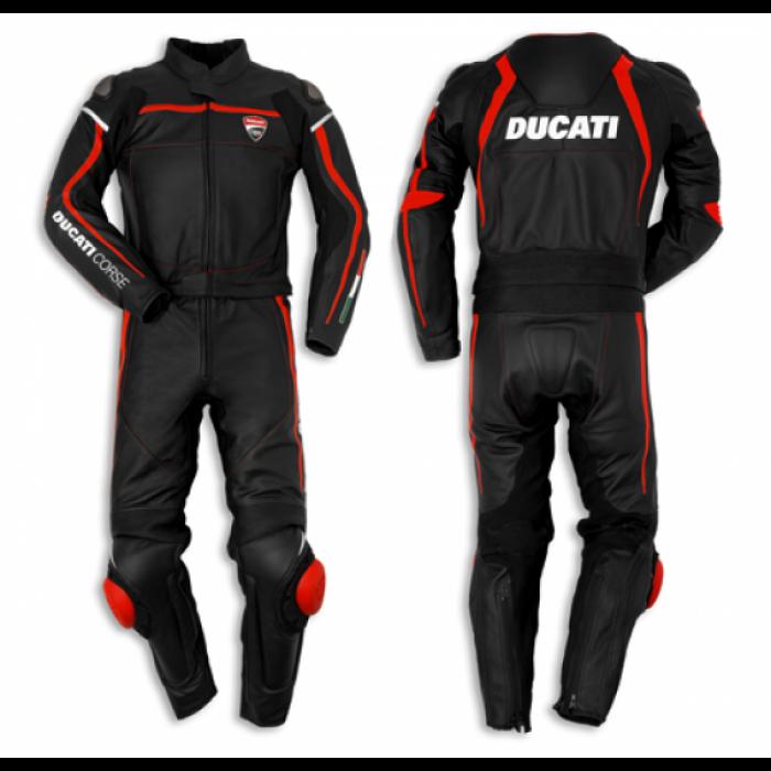 Ducati Corse 14 two piece black suit