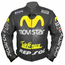 HONDA MOVIESTAR GRAY COLOR LEATHER JACKET VALINTINO ROOSI