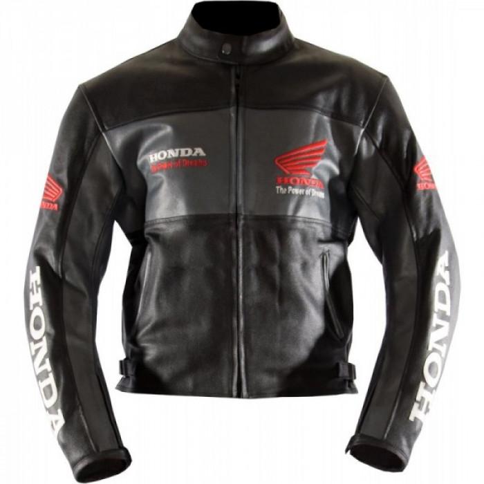 Honda Racing Classic Wings Leather Motorcycle Jacket