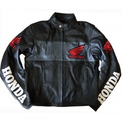 Honda Racing Leather Motorcycle Jacket in Black XXS-XXXL