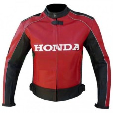 HONDA RED BIKER LEATHER JACKET MOTOGP STYLE honda racing leathers