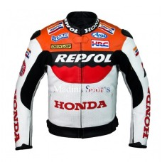 Honda Repsol Team Racer Motorbike Motorcycle Leather Jacket