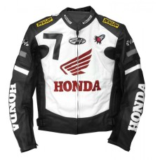 New Honda Joe Rocket Black Motorcycle Leather Jacket